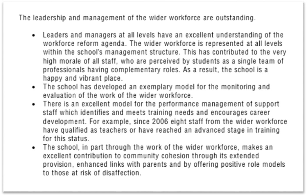 Ofsted report 1a
